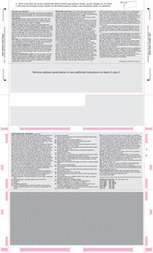 1099 r form  1099-R Printed Face EZ-Fold Instructions on back 3 Around - 1099 r form