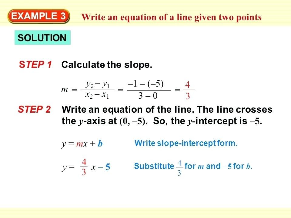 point slope form using two points calculator  Find The Equation Using Slope Intercept Form Calculator ..