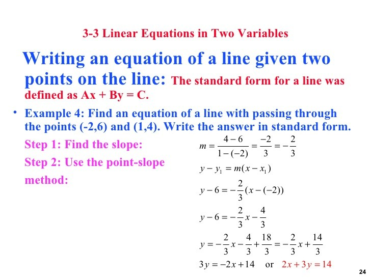 point slope form using two points calculator  how to write an equation given two points - point slope form using two points calculator