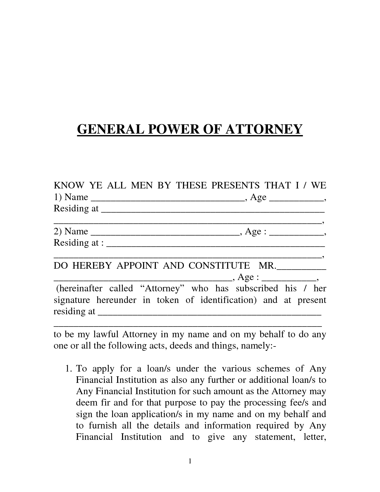 power of attorney form letter  Printable Sample Power of Attorney Form | Power of ..