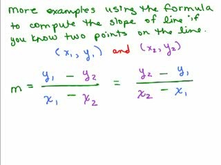 point slope form between two points  Slope Part 1: Find Slope of a Line From an Equation Help ..