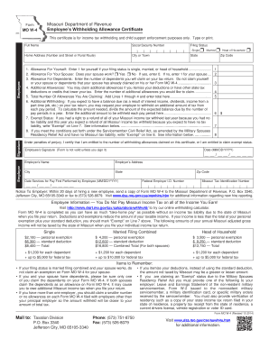 w2 form kansas  2014 Form MO W-4 Fill Online, Printable, Fillable, Blank ..