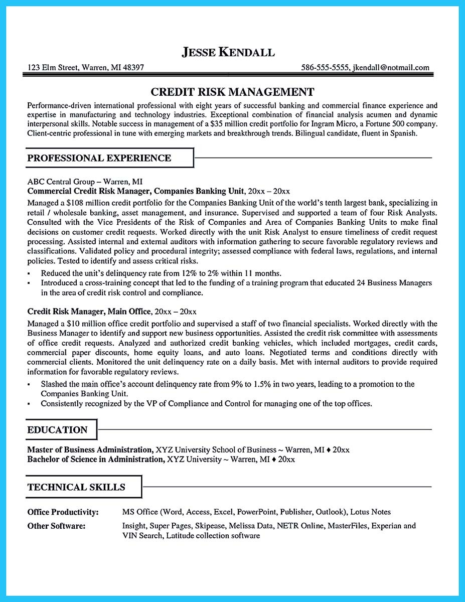 resume template analyst  Cool Credit Analyst Resume Example from Professional - resume template analyst