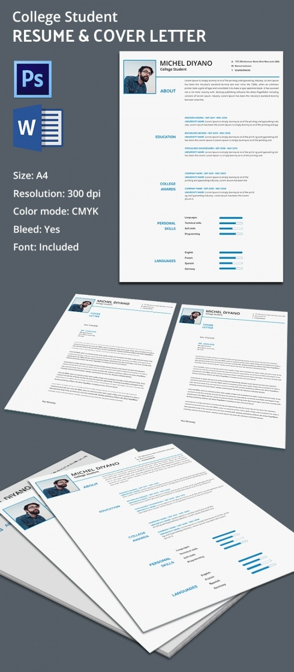 letter template format  Creative College Resume + Cover Letter Template | Free ..