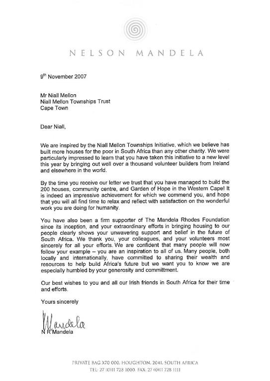 recommendation letter template for job  File:Mandela letter