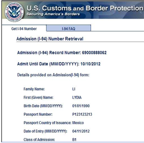 i 94 form online download  Form I-94, Arrival/Departure Record, Information for ..