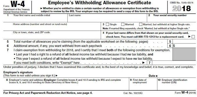 w2 form line 5  How to Fill Out Form W-4 - w2 form line 5