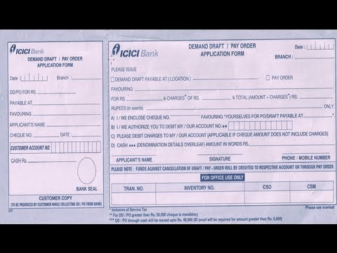 andhra bank deposit form  IN-How to fill ICICI Bank DD Application Form - YouTube - andhra bank deposit form