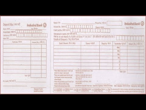 cheque deposit form sbi  IN-How to fill IndusInd Bank Deposit Slip - YouTube - cheque deposit form sbi