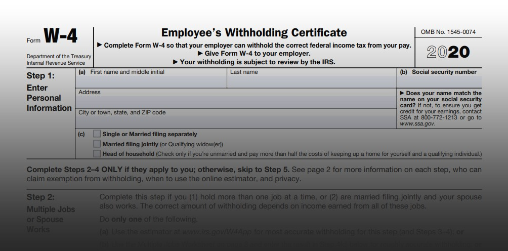 printable w2 form 2019  IRS Issues 2020 Form W-4 - printable w2 form 2019
