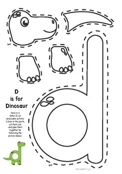 letter d duck craft template  Letter D Craft (Dinosaur) by AMCC Digital Designs | TpT - letter d duck craft template