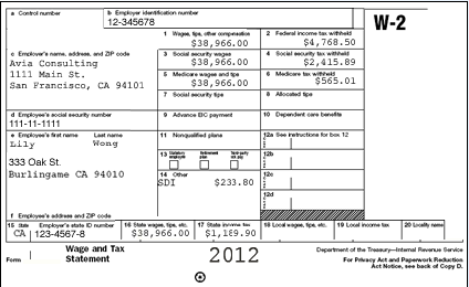 w2 form louisiana  payroll W-2 Example • -- Collective - w2 form louisiana