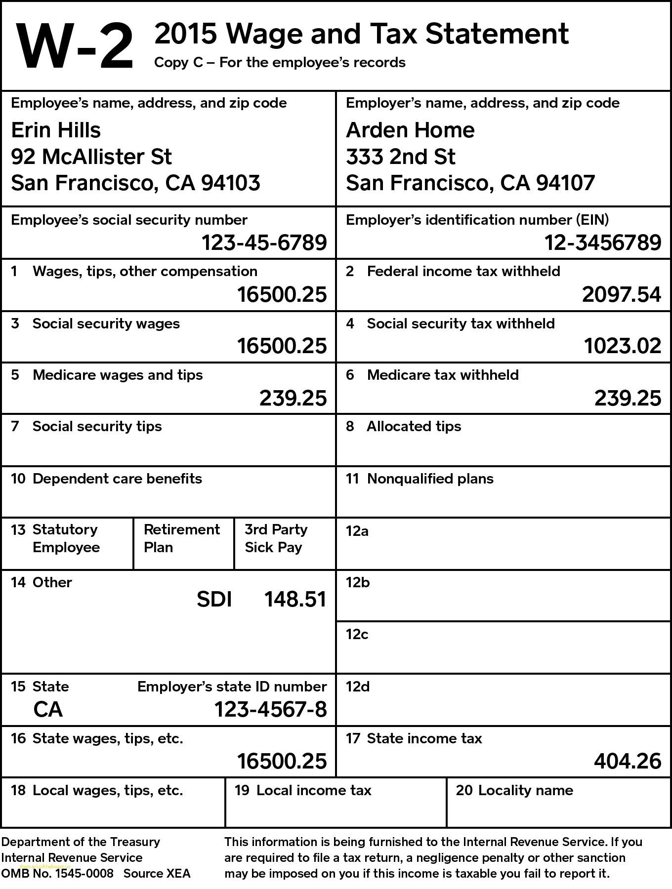 w2 form line 12b  Printable 1099 Forms For Employees   MBM Legal - w2 form line 12b