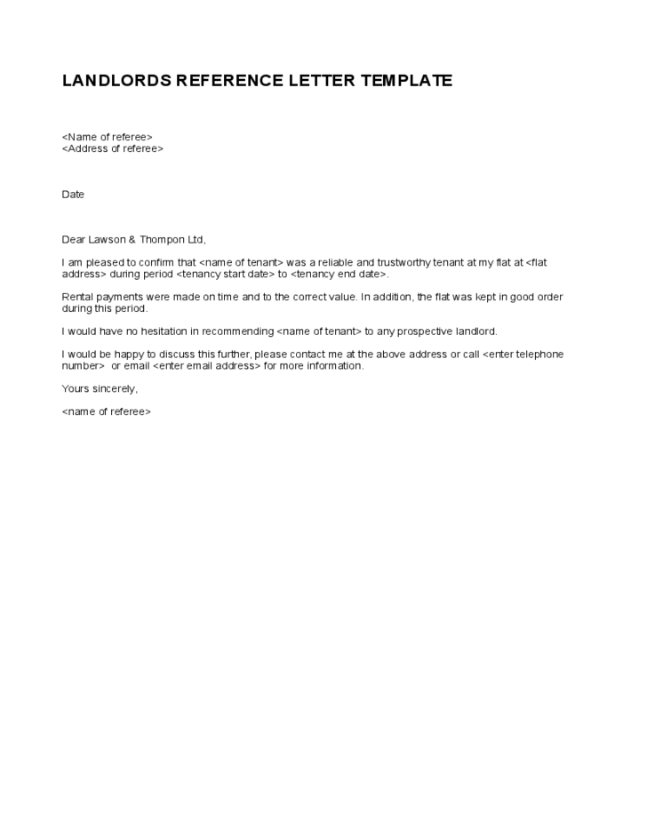 7 day demand letter template  Simple Landlord Reference Letter Template | Reference ..