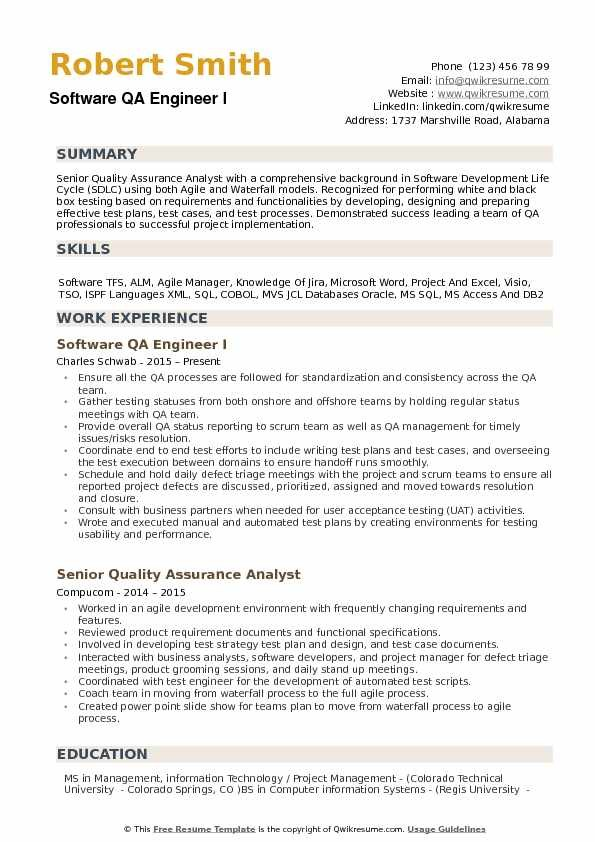 resume template qa engineer the 4 secrets you will never