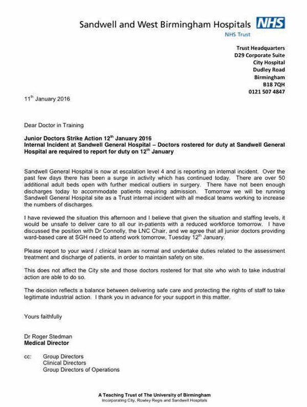 patient discharge letter template nhs  WATCH: Sandwell Hospital orders striking junior doctors to ..
