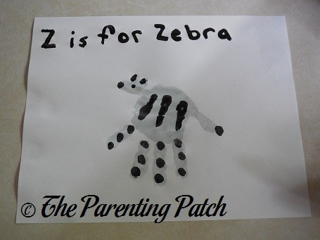 letter template for kids  Z Is for Zebra Handprint Craft | Parenting Patch - letter template for kids