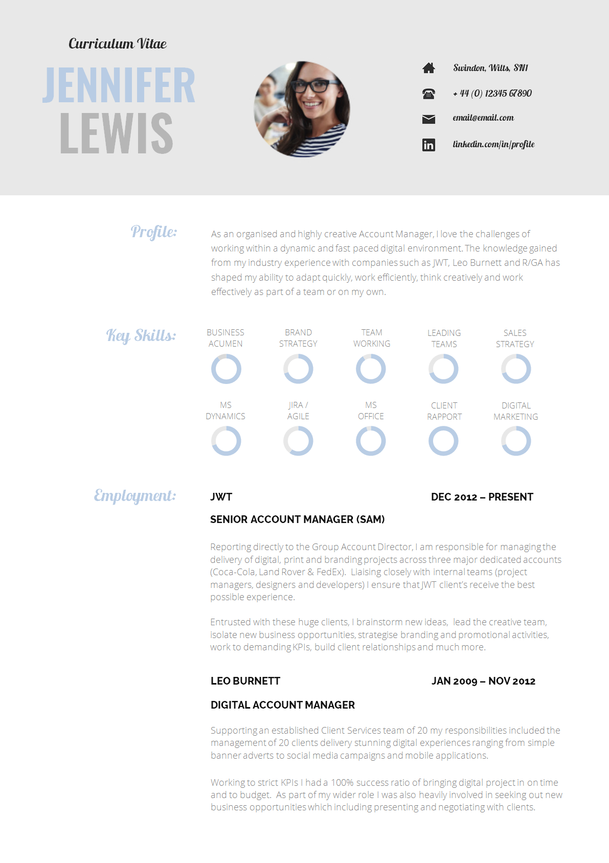 big 4 resume template  13 Slick and Highly Professional CV Templates - Guru - big 4 resume template