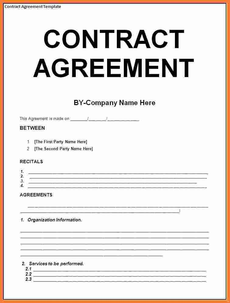 contract template agreement  8+ contract agreement template | Marital Settlements ..