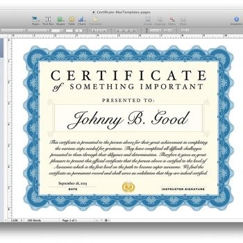 avery certificate template  Avery Shipping Labels Template for Mac Apple Pages ..