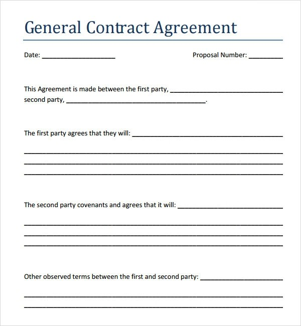 contract template agreement  Contract Agreement - 7+ Free PDF , DOC Download - contract template agreement