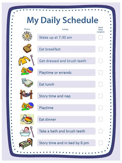 daily schedule template kids  Creating Structure | Activities | Essentials | Parenting ..