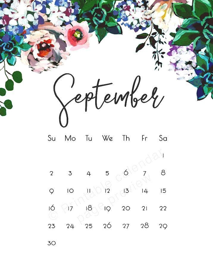 calendar template 2019 august  Cute September 2018 Calendar Images | Calendar wallpaper ..