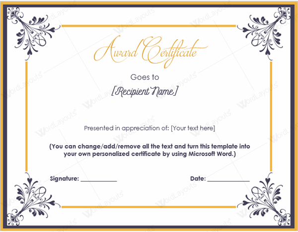 avery certificate template  Document Templates: Award Certificates Printable - avery certificate template