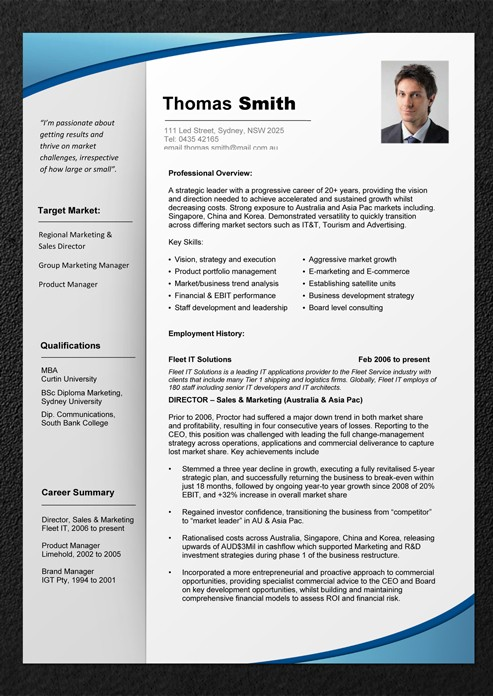1 page resume template word  Download The Experienced Pro Resume Template - 1 page resume template word