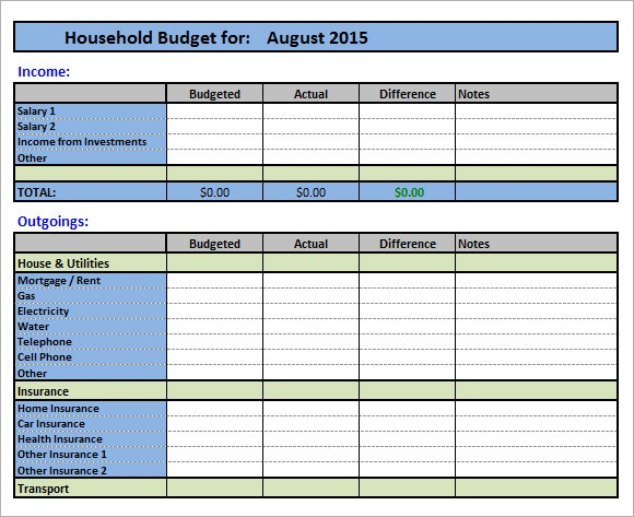 detailed budget template  FREE 11+ Household Budget Samples in Google Docs   Google ..
