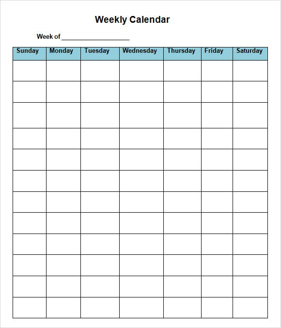 8 week calendar template pdf  FREE 20+ Sample Weekly Calendars in Google Docs | Google ..