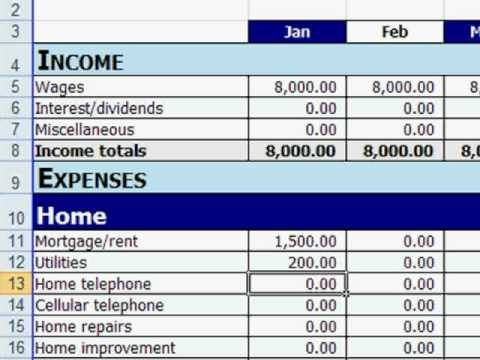 budget template sample  Free Excel Personal Budget Template - YouTube - budget template sample