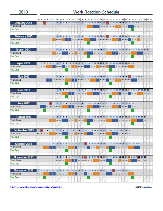 4 week rotation schedule template  Free Rotation Schedule Template - 4 week rotation schedule template