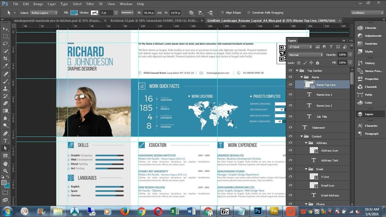 2 page resume template free  How to Customize CV Resume Template in Microsoft Word ..