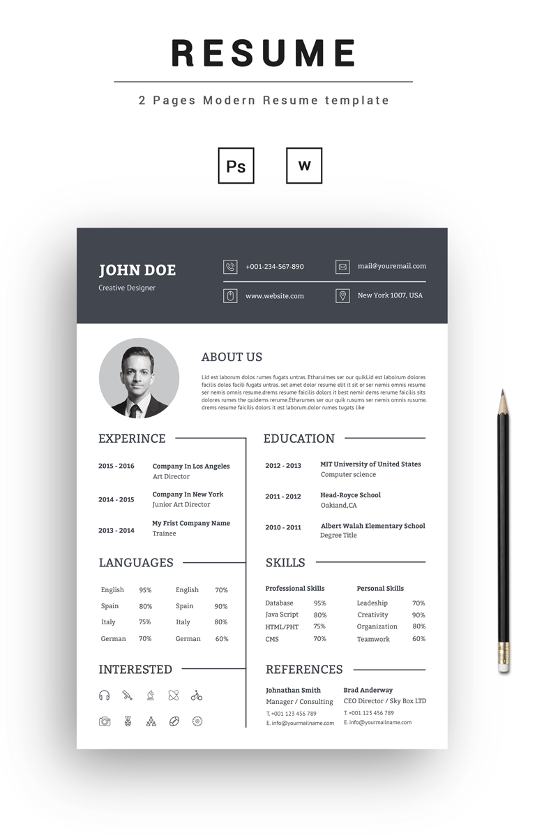 big 4 resume template  John Doe Creative Resume Template #73545 - big 4 resume template