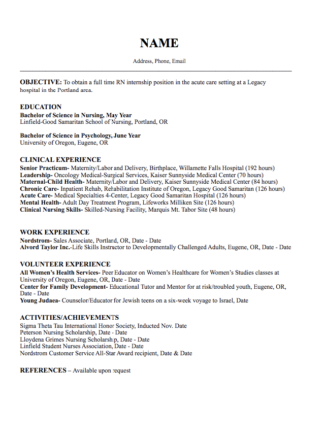 young professional resume template  Pin on Example Resume CV - young professional resume template