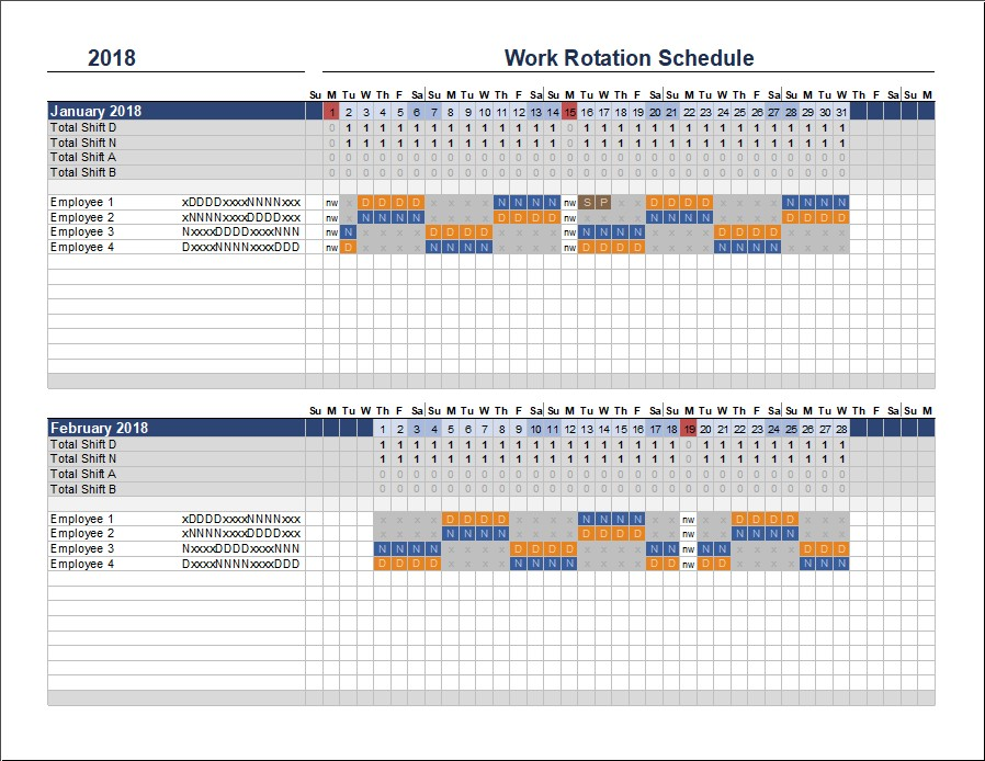4 week rotation schedule template  Rotating Schedule Meaning | polar explorer - 4 week rotation schedule template