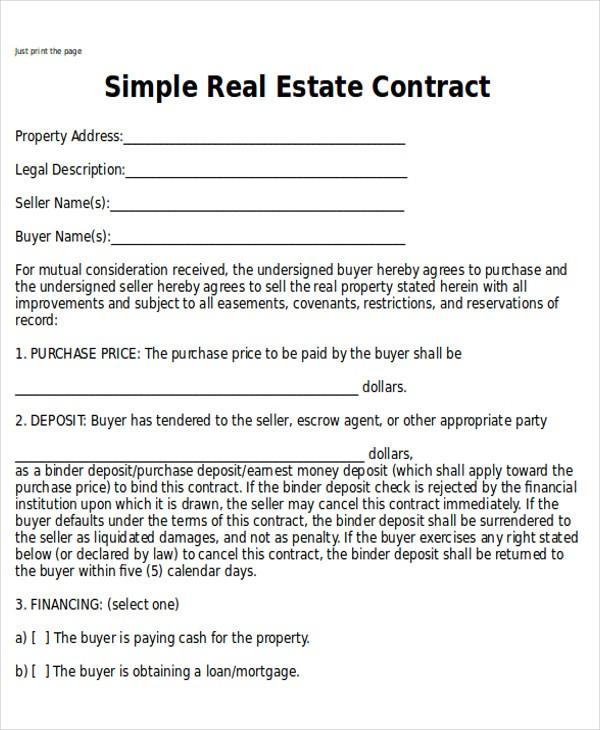 house sale contract template  Sample Home Sales Contracts - 7+ Examples in Word, PDF - house sale contract template