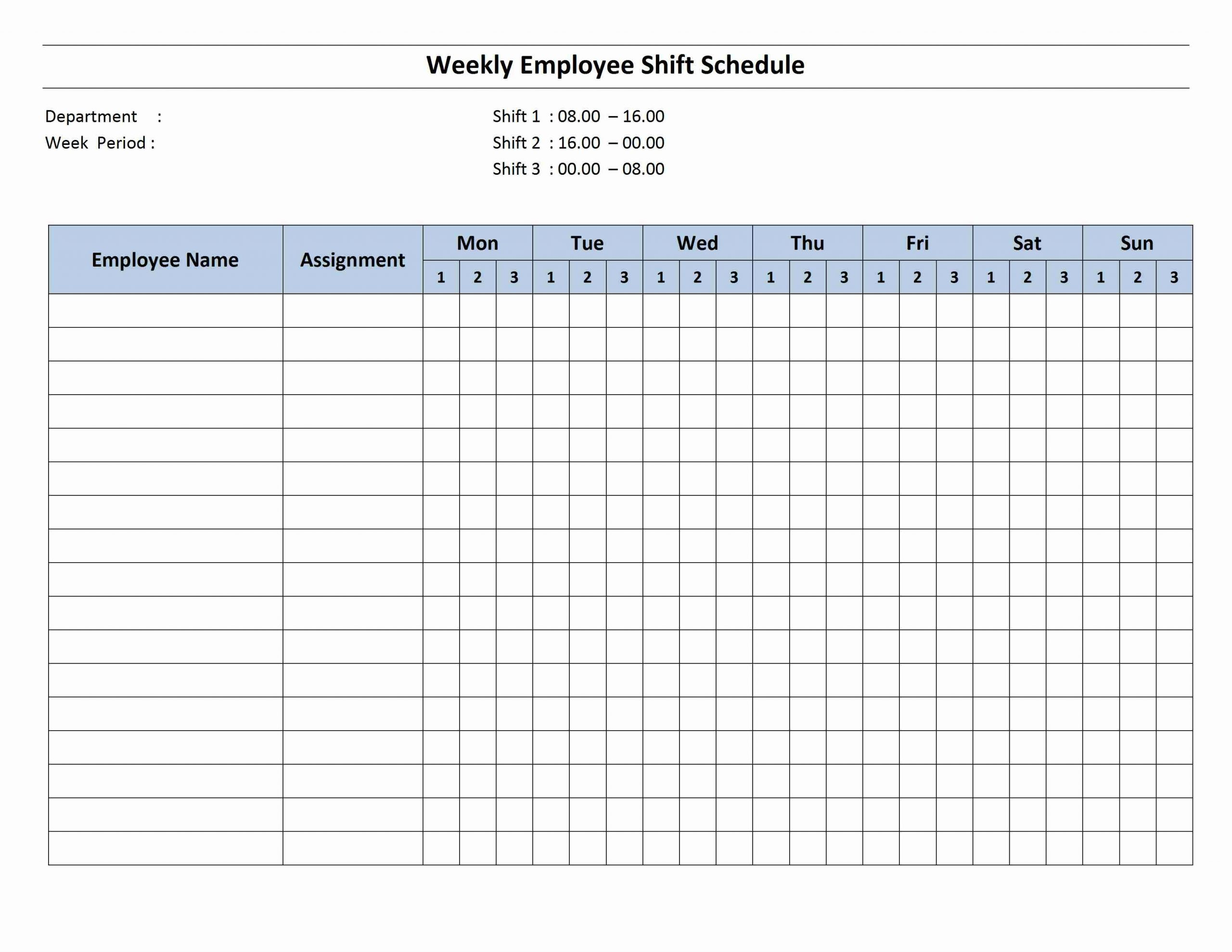 8 week calendar template pdf  Weekly 8 Hour Shift Schedule - 8 week calendar template pdf