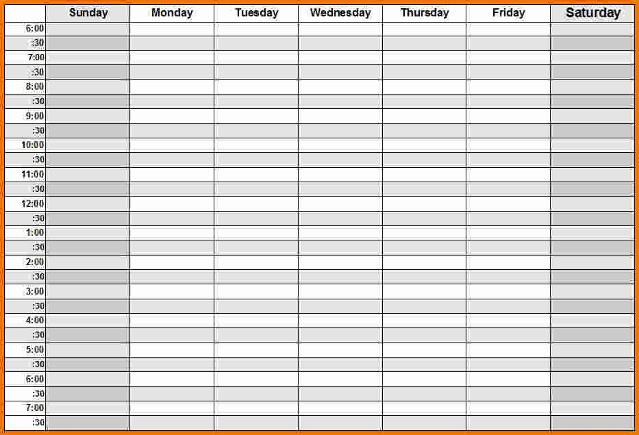 calendar template weekly with hours  Weekly Calendar With Hours – printable month calendar - calendar template weekly with hours