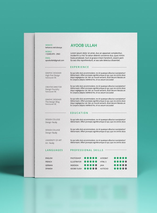 resume templates word free download  15 beautiful resume designs for your inspiration - resume templates word free download