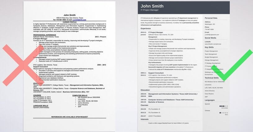cv template zety  16 FREE Tools to Create Outstanding Visual Resume - cv template zety