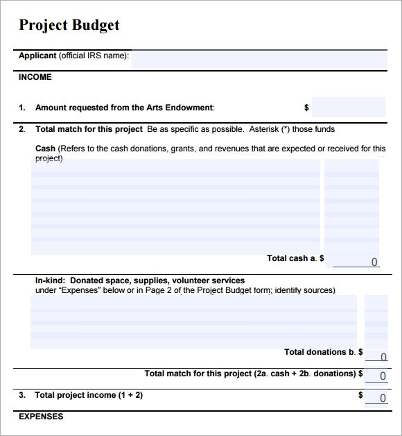 simple budget template download  8 Sample Project Budget Templates to Download | Sample ..