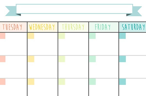 blank calendar no dates and months  Calendar Monthly Planner - Free Printable on Behance - blank calendar no dates and months