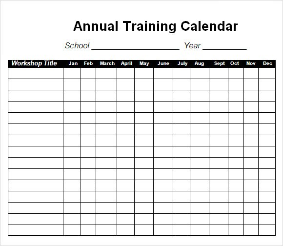 calendar for training template  FREE 21+ Sample Training Calendar Templates in Google Docs ..