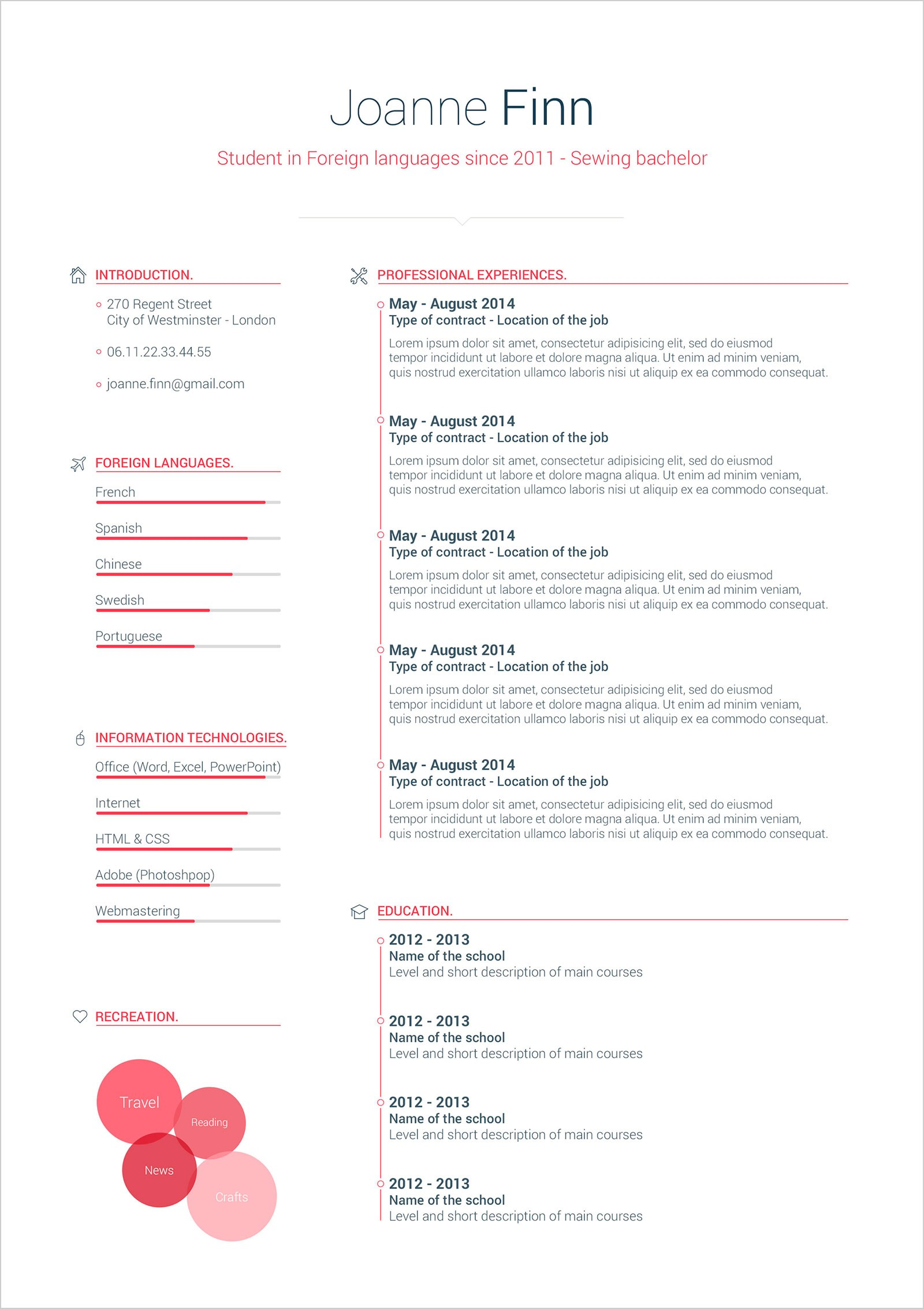 resume templates word free download  Free Simple CV Format Template In PSD & Word - Good Resume - resume templates word free download