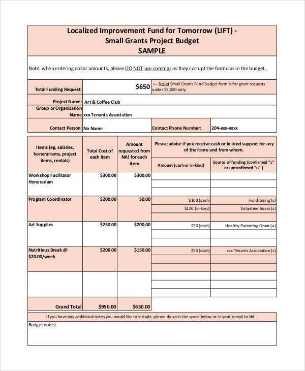 simple grant budget template  Grant Budget Template - 10+ Free PDF, Word Documents ..
