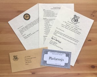 hogwarts acceptance letter birthday card  hogwarts acceptance letter happy birthday card // harry potter - hogwarts acceptance letter birthday card