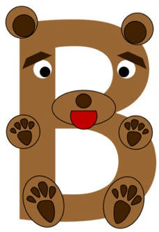 letter b bear craft template  Letter B Bear Craft - letter b bear craft template