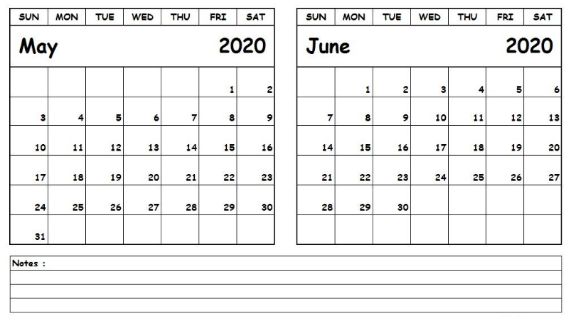 blank calendar april may june 2020  May June 2020 Calendar | September calendar, Calendar ..
